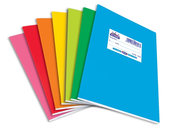 Exercise Book Cover Paper : Quot super diethnes plastic coloured exercise books